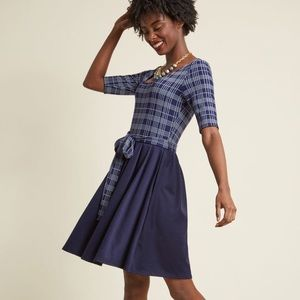 Very Near Twofer A-line dress from ModCloth
